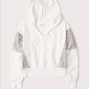 "Abercrombie ""split neck"" cropped hoodie"